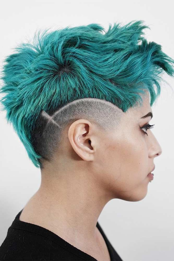 Taper Haircut Fade With Hairline Teal #taperhaircutwomen
