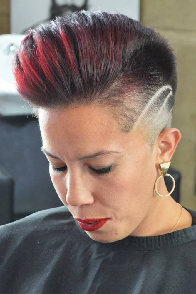 High Taper Fade Haircut Red #taperhaircutwomen