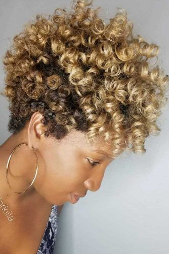 Natural Gold Curls #taperhaircut #haircuts #shorthaircuts
