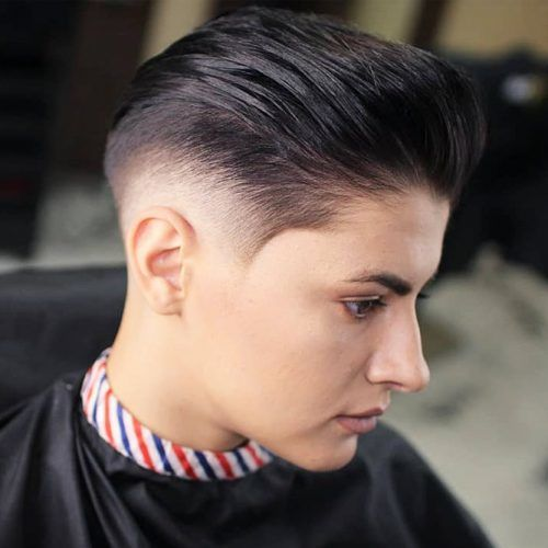 Punky Pompadour Taper Fade #taperhaircut #haircuts #shorthaircuts