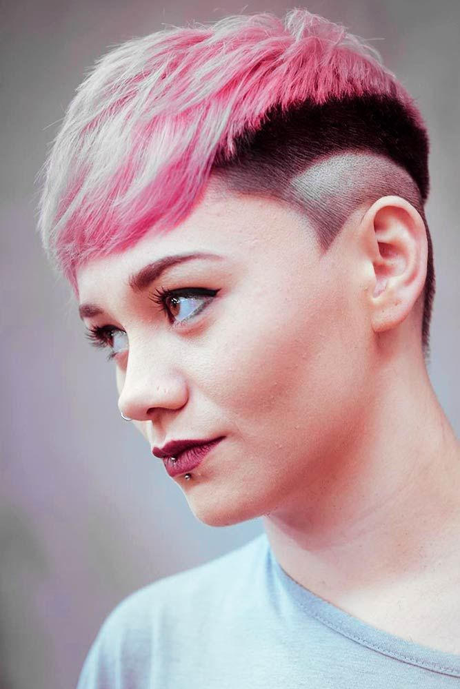 Textured Taper Haircut Fade Combo Pink #taperhaircutwomen