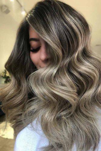 Ash Blonde Balayage Brunette #blondehair #brunette #balayage