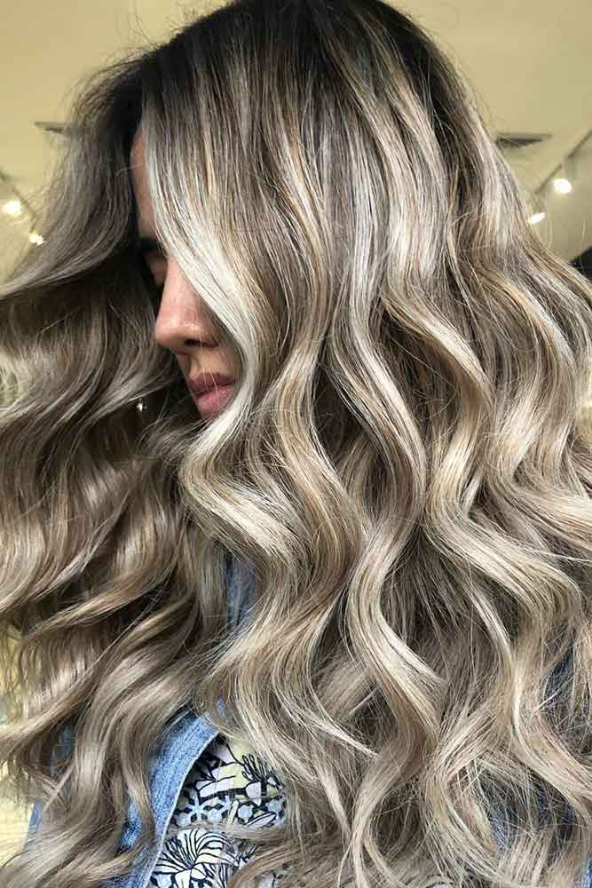 Ash Blonde Balayage Highlights #blondehair balayage #highlights
