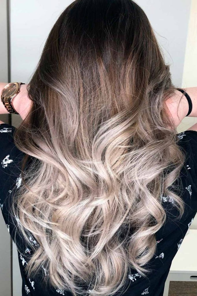 Stylish Ombre With Brown And Ash Blonde Hues