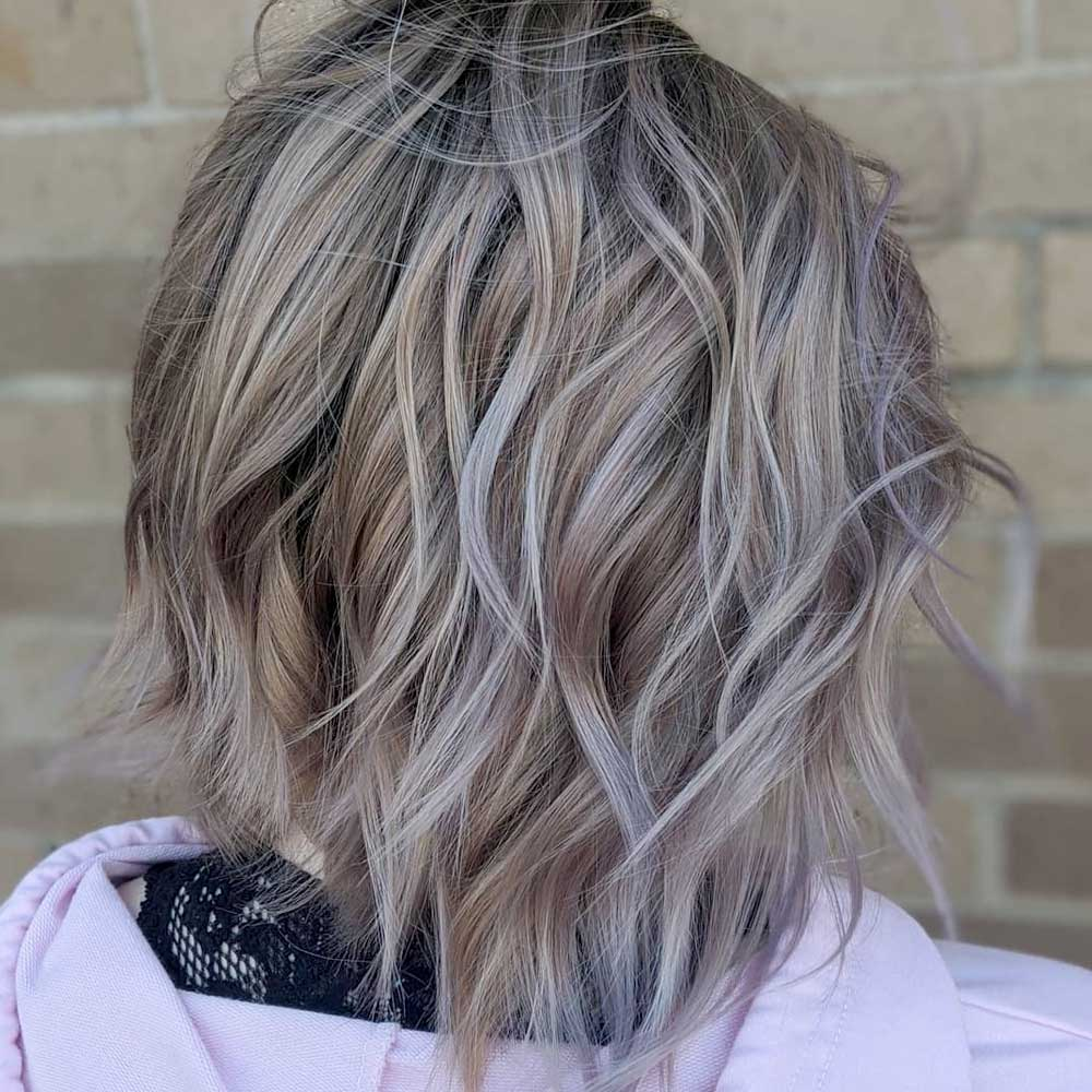 Short Messy Style For Ashy Blonde Hair