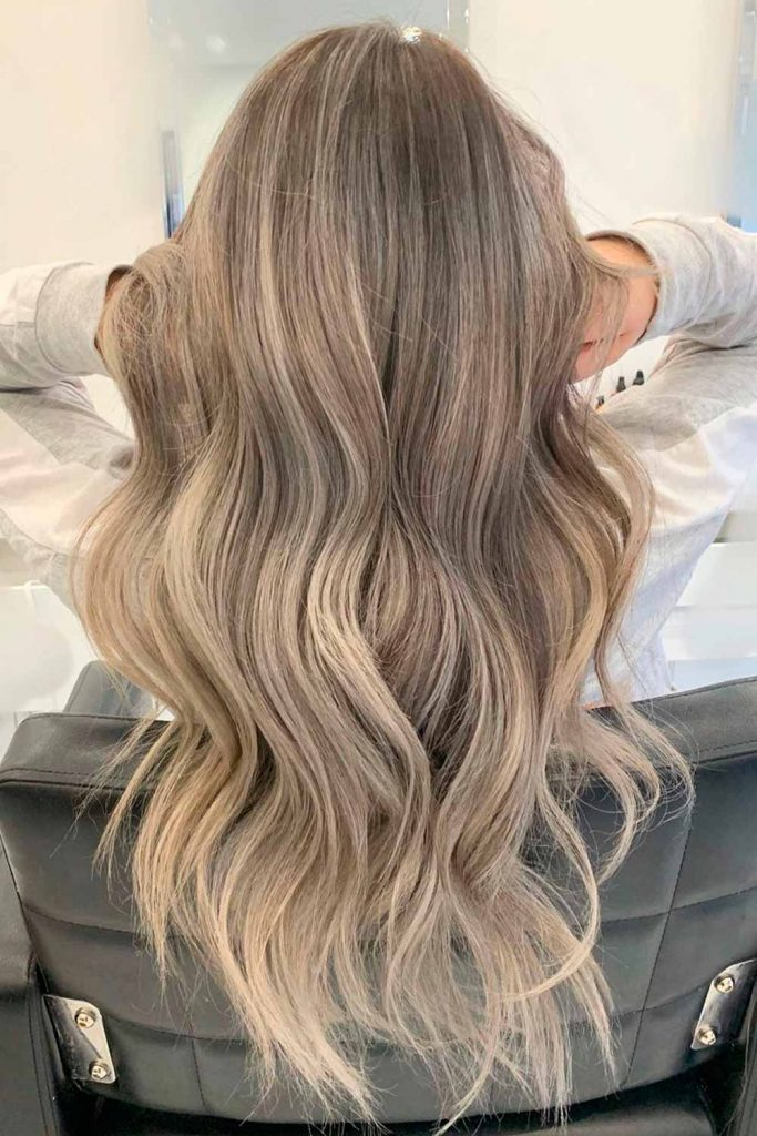 Ashy Blonde Hair With Sandy Highlights