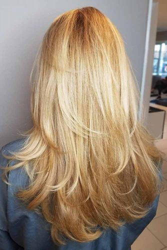 Multi-Layered Mix On Blonde Straight Hair #longhair #layeredhair #blondehair #blondehighlights