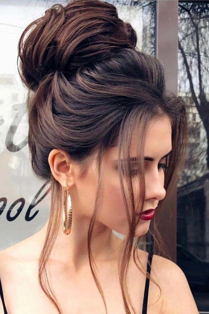 High Bun Hairstyles Free Locks #updo #bun