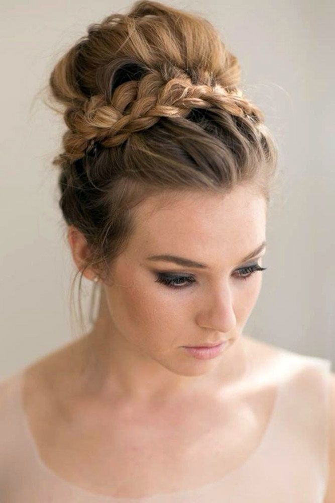 Braided Updo Crown #braids #updo #bun