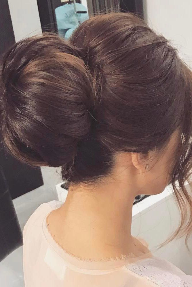 Brown Elegant Bun For A Special Event #bun #chignonbun