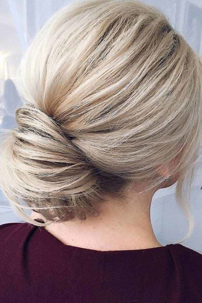 Blonde Elegant Bun For A Special Event #bun #chignonbun