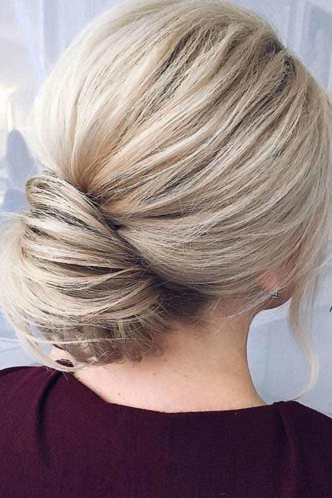 Blonde Elegant Bun For A Special Event #bun #chignonbun