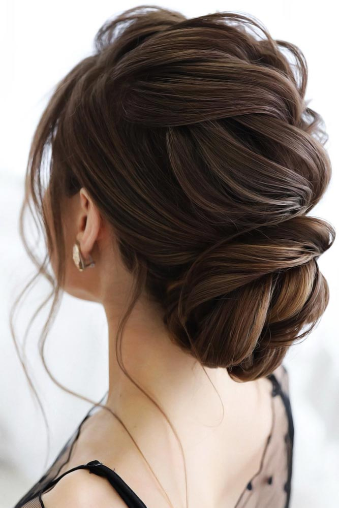 Elegant Bun For A Special Event Brown #bun #chignonbun #updo