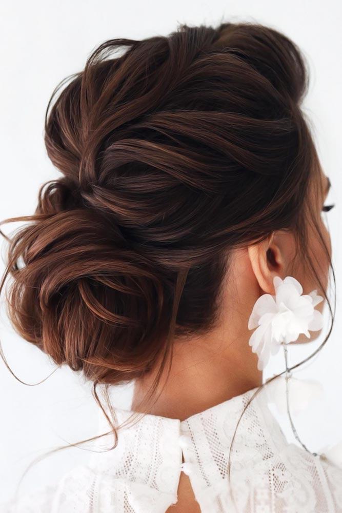 Twisted Bun Styles Brown #bun #chignonbun