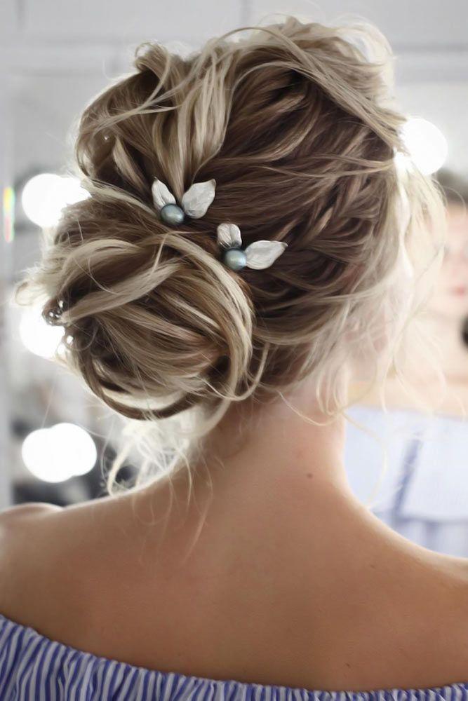 Chignon Buns With Pearls Dutch Braid #bun #chignonbun