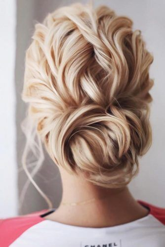 Chignon Bun With Twists #bun #chignonbun