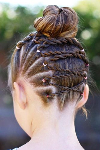Upside Down Braid Into A Messy Bun
