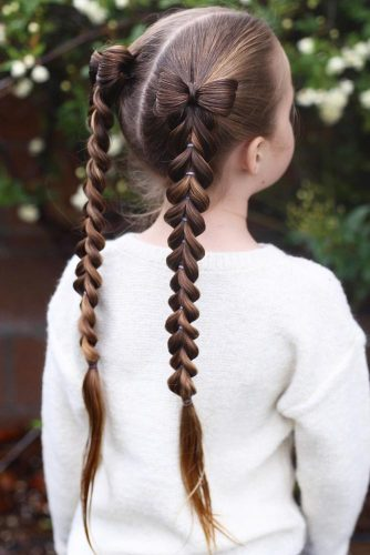 Double Pull Through Braid Pigtails