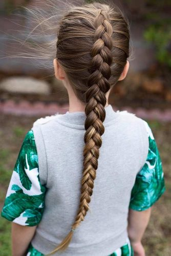 Simple Dutch Braid Hairstyles For Girls