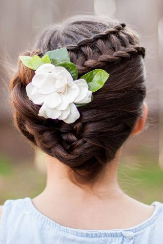 Ladder Braid With Flowered Updo