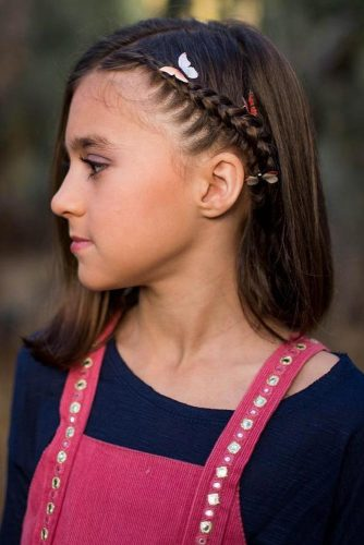 Accent Braids On Short Hair