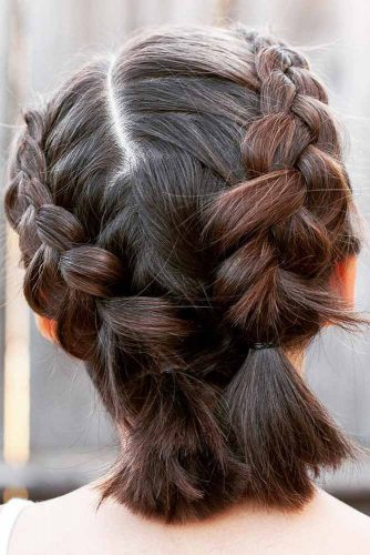 Double Dutch Braids For Short Hair