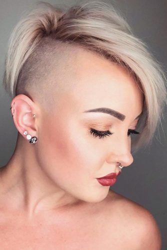 Disconnected Undercut For Blonde Girls #disconnectedundercut #undercut #haircuts