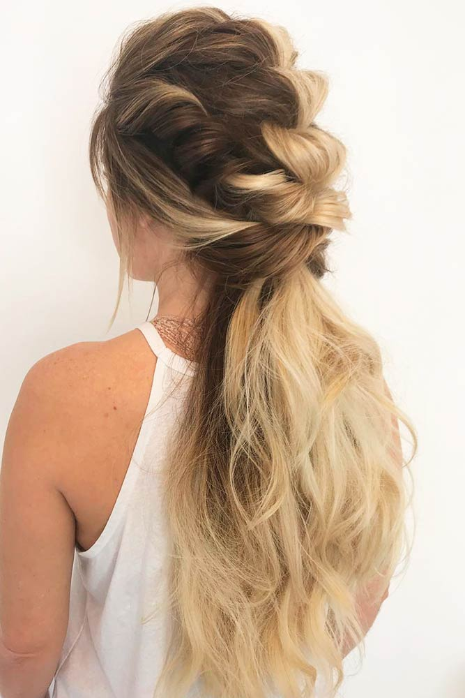 Twisted And Braided Faux Hawk