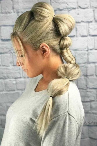 Bubble Braid Mohawk Style