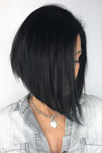 Black And Straight #invertedbob #blackhair #straightbob