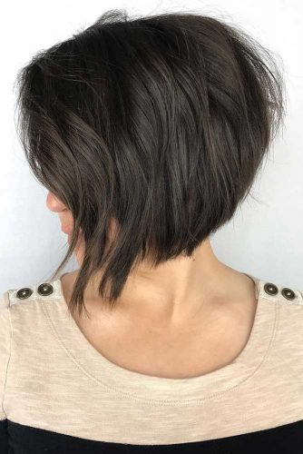 Short Layered Bob #bobhaircut #invertedbob #shortbob