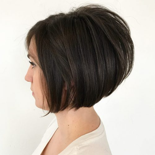 Wedge + Stacked Bob #invertedbob #straighthair #shortbob #alinebob