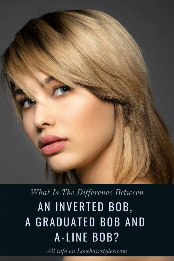 What Is The Difference Between An Inverted Bob, Graduated Bob, And A-Line Bob? #invertedbob #bob