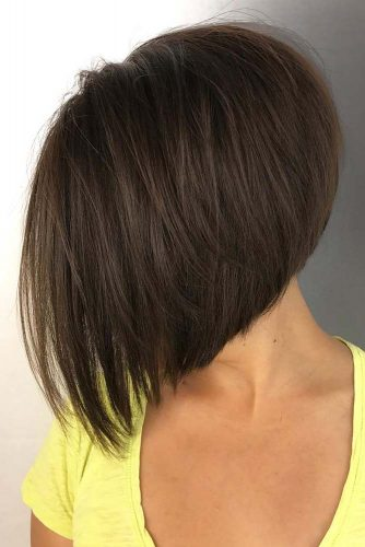 Short Stacked Bob Haircut #invertedbob #straighthair #shortbob
