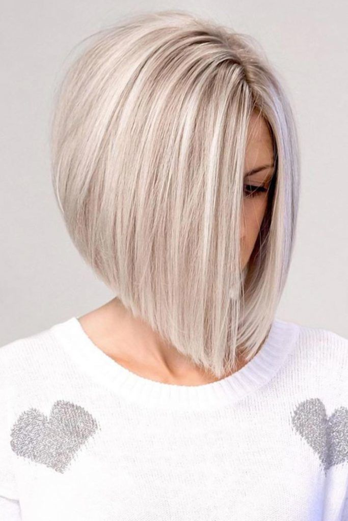 Short Tousled Bob With Elongated Front #invertedbob #bob