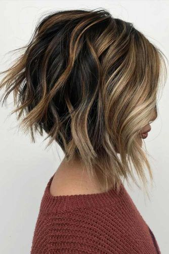 Casual Stacked Bob Style #invertedbob #wavyhair