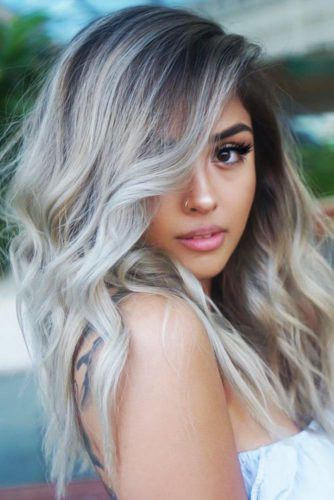 Side Swept Wavy Long Cuts Blonde #longhair #longhaircuts
