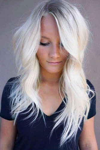 Blonde Asymmetrical Long Haircuts #longhaircuts #haircuts