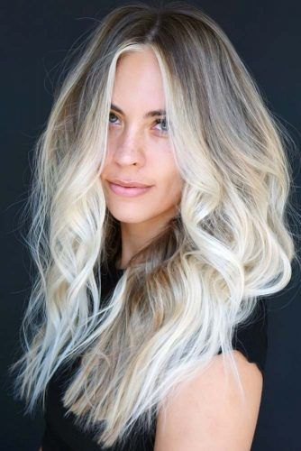 Messy Waves With Center Part Ombre #longhair #longhaircuts