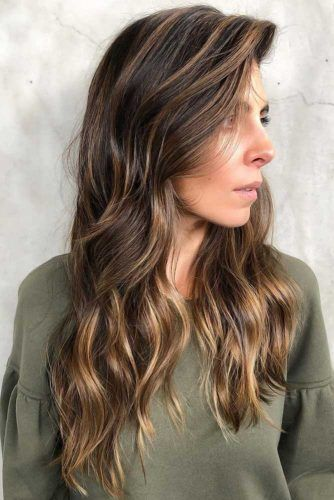 Side Swept Wavy Long Cuts Highlights #longhair #longhaircuts