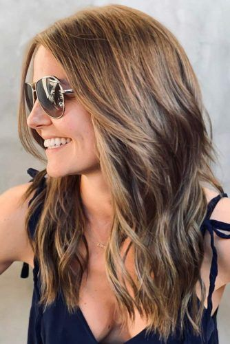 Thick Messy Waves Brown #longhair #longhaircuts