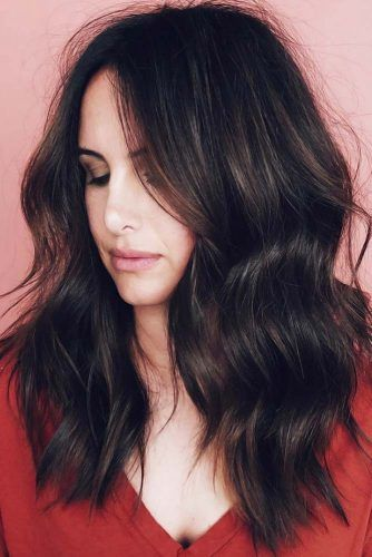 Thick Messy Waves Dark Brown #longhair #longhaircuts