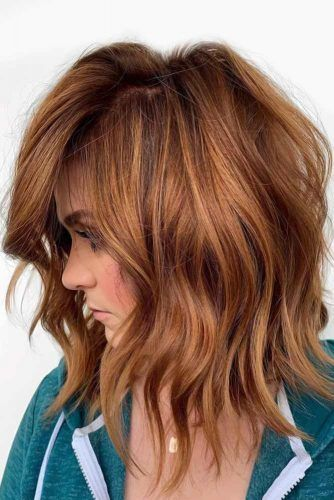 Choppy Wavy Bob For Thick Hair #mediumhair