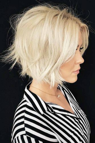 Layered Medium Length Haircuts #layeredhair #bobhaircut blondehair