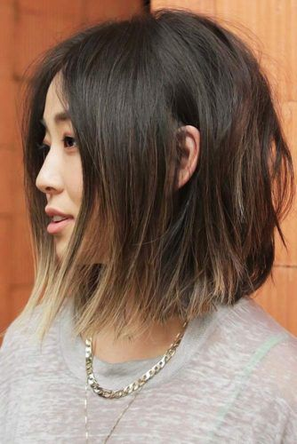 Soft Blunt Bob for Thin Hair #mediumhair