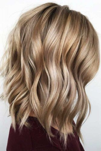 Waves With Messy Layers #mediumhair