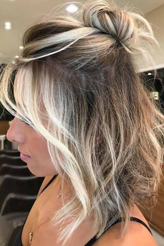 Half Up Medium Length Hairstyles picture1