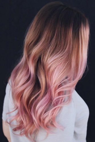 Darker Rose Gold For Brunettes Ombre #rosegoldhair