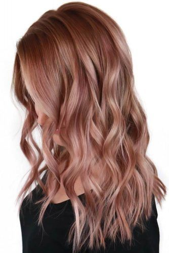 Pale Rose Gold Dark #rosegoldhair