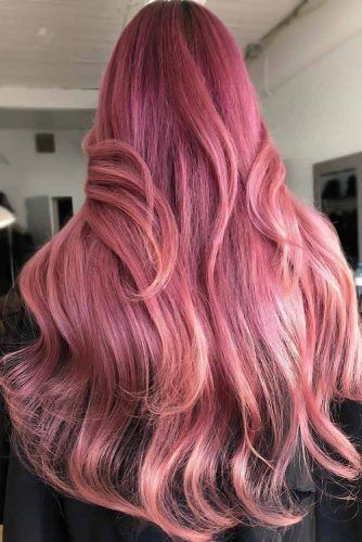 Light Purple & Rose Gold Layered #rosegoldhair